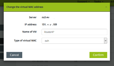 Configure Mikrotik RouterOS in Proxmox KVM virtual machine on OVH