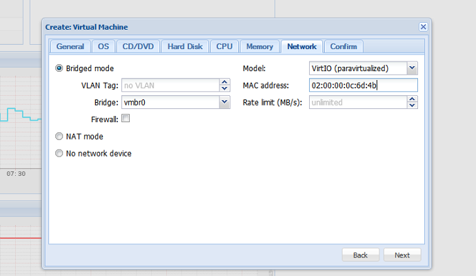 Create KVM with network device and OVH MAC address