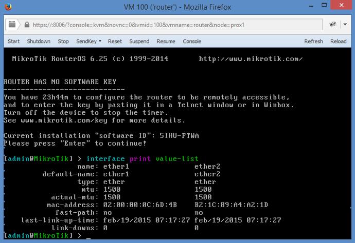 OVH SoYouStart KVM RouterOS configuration